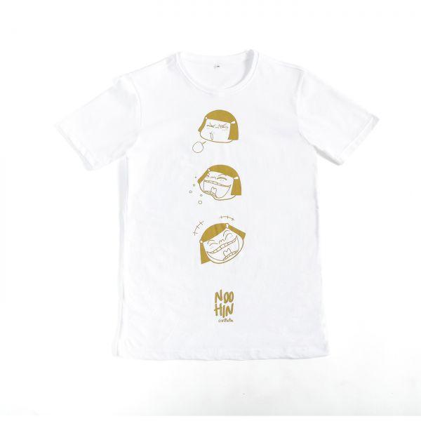 Noo Hin T-shirt: FACE (WHITE) [XL]
