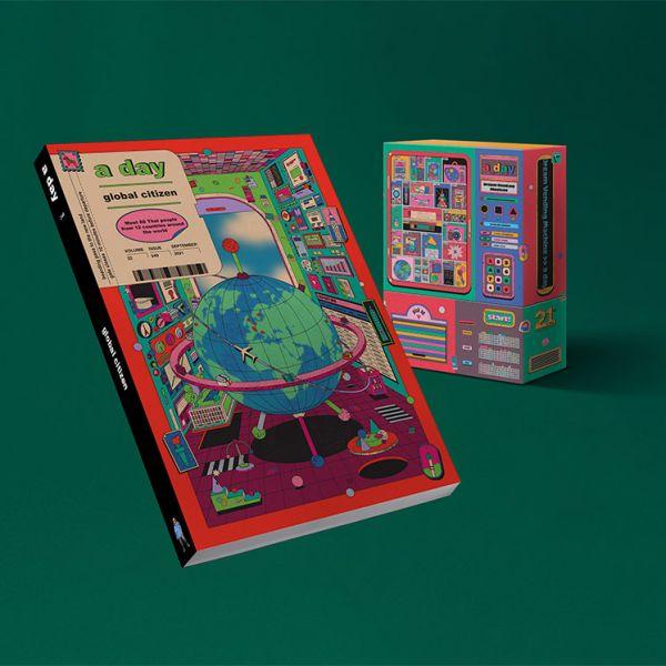a day 249 ฉบับ Global Citizen 1 เล่ม + กล่อง Dream vending machine