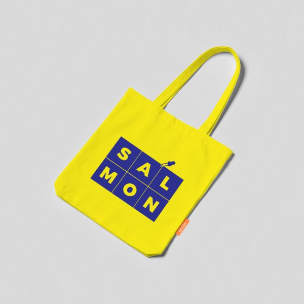 COLOR TOTE BAG -YELLOW & BLUE