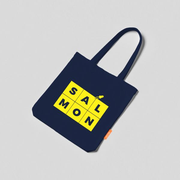 COLOR TOTE BAG -BLUE & YELLOW